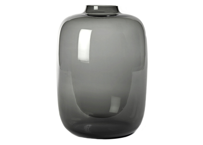 VASE CYLINDER, Glass light gray